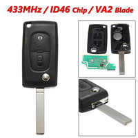KEYECU Replacement Flip Remote Car Key Fob 315/433MHz ID46 for Land Rover  LR3 Range Rover Sport 2005-2011 NT8-15K6014CFFTXA
