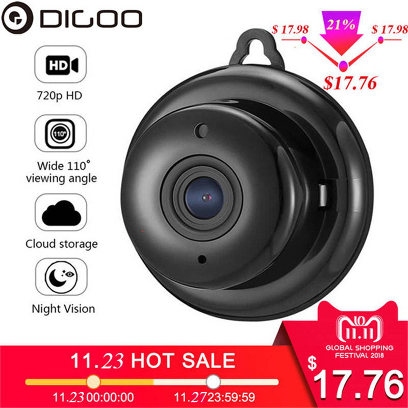 DIGOO DG-MYQ 2.1mm Lens 720P Wireless Mini WIFI Night Vision Smart Home Security IP Camera Onvif Monitor Baby Monitor dg home 21 см baby bird dg d 811b