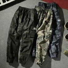 7XL גברים 2019 אביב סתיו מקרית כותנה כיסי מטען מכנסיים מכנסיים גברים צבא הצבאי טקטי צמר חם מכנסיים מכנסיים גברים