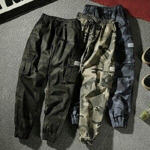 Image 1 - 7XL мужские 2019 весна осень повседневные хлопковые брюки карго с карманами мужские армейские военные тактические флисовые теплые брюки мужские