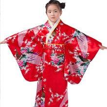 Детское шелковое платье с цветочным принтом и павлином халат