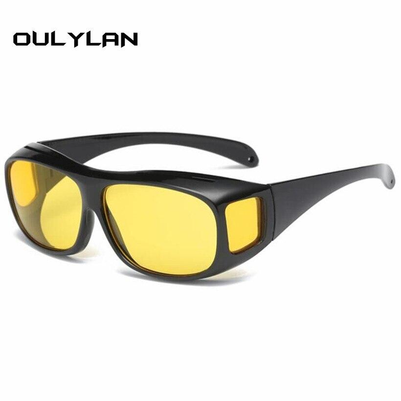 bef777ede7e Oulylan HD Vision Wrap Arounds Night Vision Goggles Anti Glare Driving  Glasses Women Men Sunglasses Multi