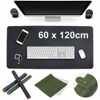 60X120cm Dual Sides Large Extended PU Leather Modern Desk Table Keyboard Mouse Pad Home Office Laptop Gaming Desk Mat Mousepad