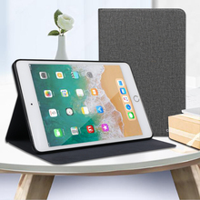 Tablet Case for Apple iPad 5 6 2017 2018 iPad5 iPad6 Leather Flip Cover Soft Silicone Case for Air1 Air2 2013 2014 A1474 A1475 for ipad6 leather case soft tpu back trifold smart cover shockproof protective case for ipad 6 air2 gift