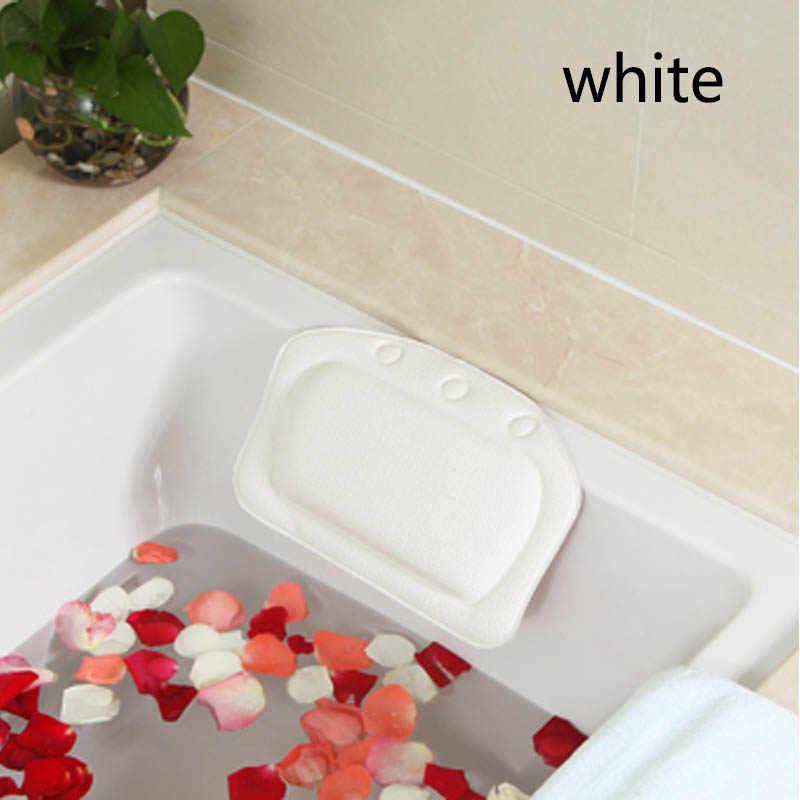 Z pianki pcv akcesoria łazienkowe Spa poduszka do kąpieli s poduszka do kąpieli 1PC wodoodporna gąbka poduszka na głowę wanna zagłówek poduszka do wanny