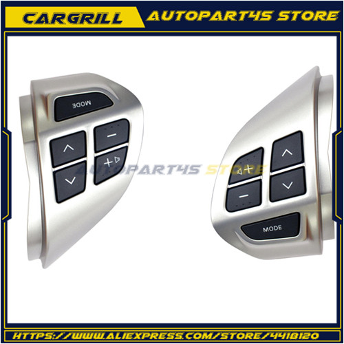 Left / Right Steering Wheel Volume Sound Button Car Interior Moulding Fit (CX,CY) 2007-2014 For Mitsubishi Laner image
