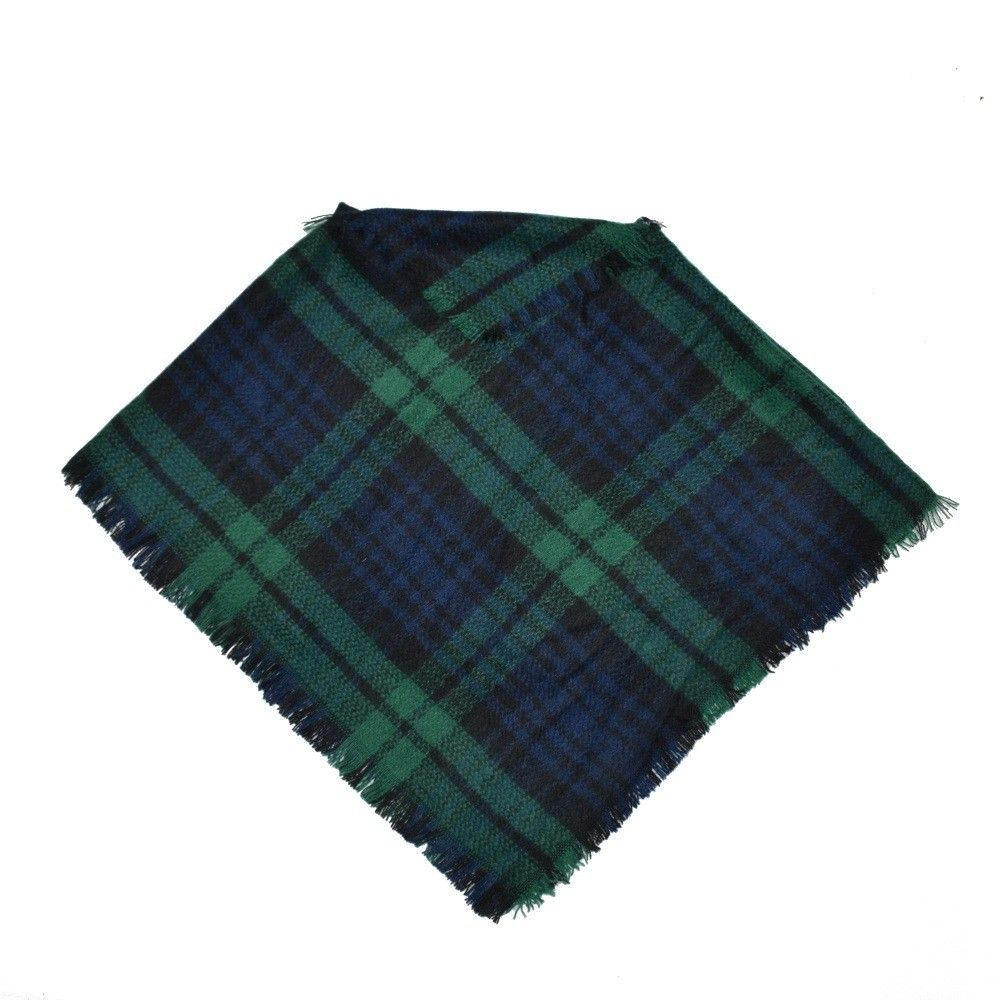 3 To 5 Years Kid Toddler Baby Girl Boy Winter Warm Plaid Wool Scarf Tippet Cappa