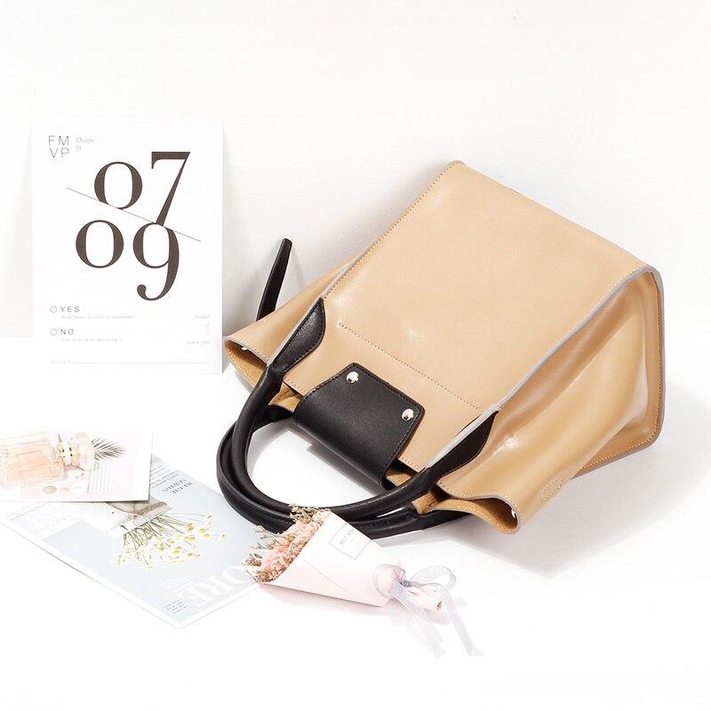 2019 nuevo producto clásico trapecio moda contraste color bolso de marca de lujo para mujer-in Cubos from Maletas y bolsas    1