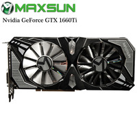 Origianl MAXSUN Nvidia GeForce GTX 1660Ti Terminator 6G Video Graphics Card for Gaming GDDR6 192bit DirectX 12 12nm DP/HDMI/DVI