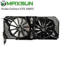 Origianl MAXSUN Nvidia GeForce GTX 1660Ti Terminator 6G Video Graphics Card for Gaming GDDR6 192bit DirectX 12 12nm DP/HDMI/DVI
