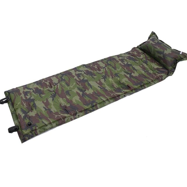 Self Inflating Camping Roll Mat Sleeping Bed Inflatable Pillow Mattress 4