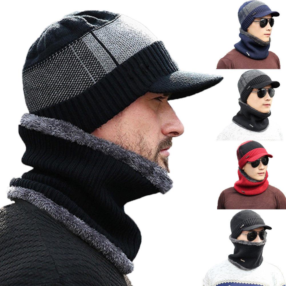 Fashion Women Men Camping Hat Winter Beanie Baggy Warm Wool Fleece Ski Cap + Neckerchief Scarves