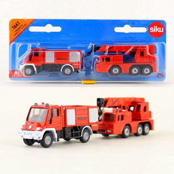 SIKU 1661/Diecast Metal Toy Car Model/1:87 Scale/Fire Engine Truck and Crane/Gift For Children/Educational Collection image