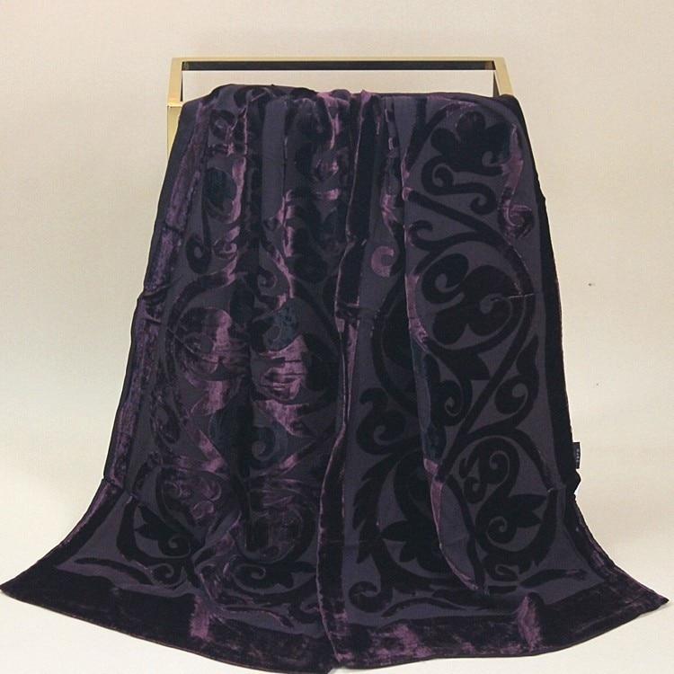 Velvet Silk Scarf Women Size:30*135cm Women Men #112 DOUBLE-DECKER
