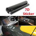 6D Ultra High Gloss Black Carbon Fiber Vinyl Envoltório Etiqueta Decal Air Release