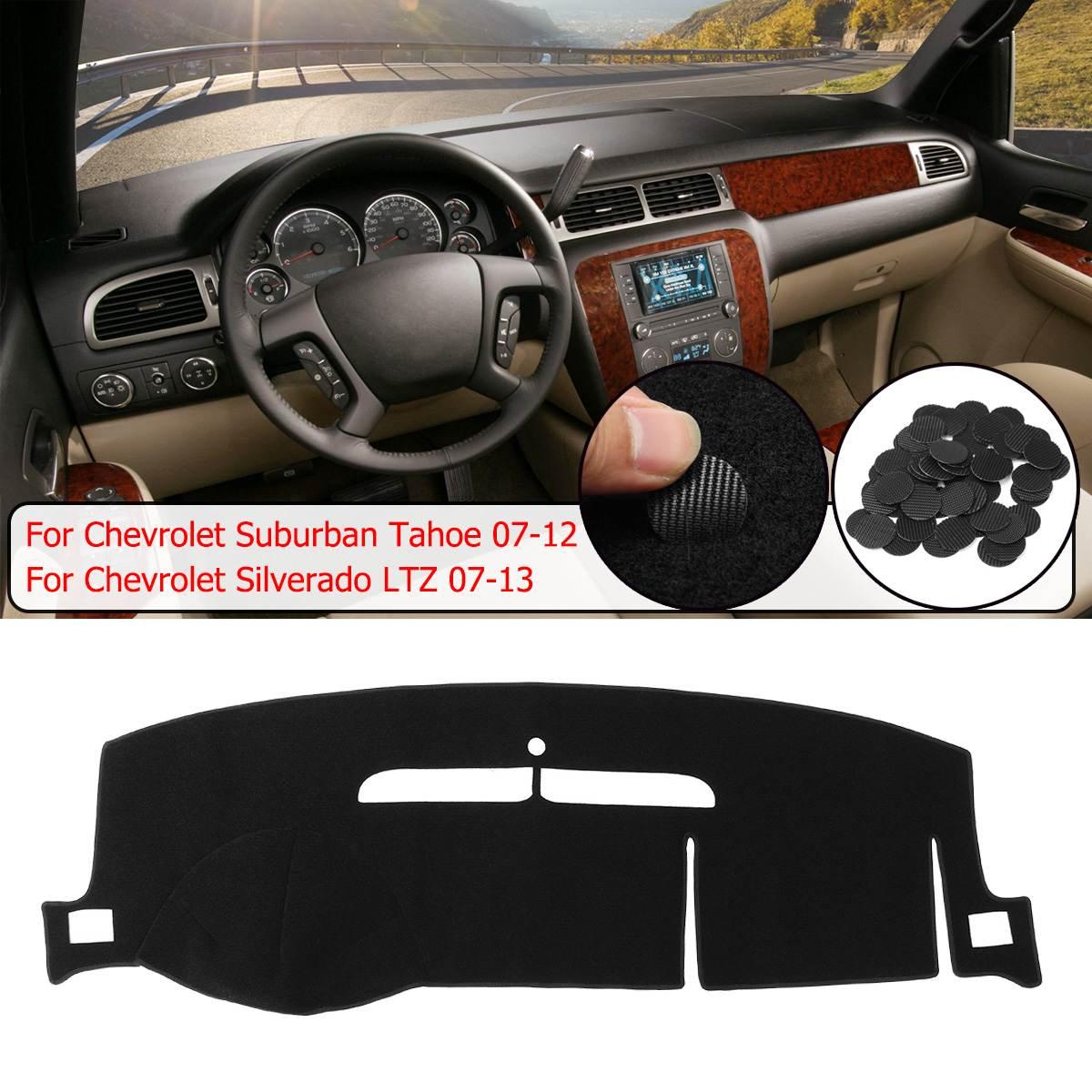 Dash Cover Dashboard Cover Mat Pad Fit for Chevy Chevrolet Tahoe 2007-2014,GMC Yukon 2007-2014,Chevy Avalanche Silverado 1500 LTZ 2007-2013 Black