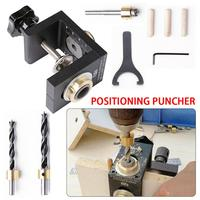 Woodworking 3 in 1 Hole Puncher Locator Roundwood Dowel 2 in 1 Tools Plate Furniture Puncher Woodworking Tools