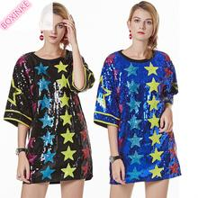 2019 Casual Rushed Acetate Korean Kpop New Actual Pentagon Punched Loose Sequins T-shirt Womens And For Compassionate Topcoat