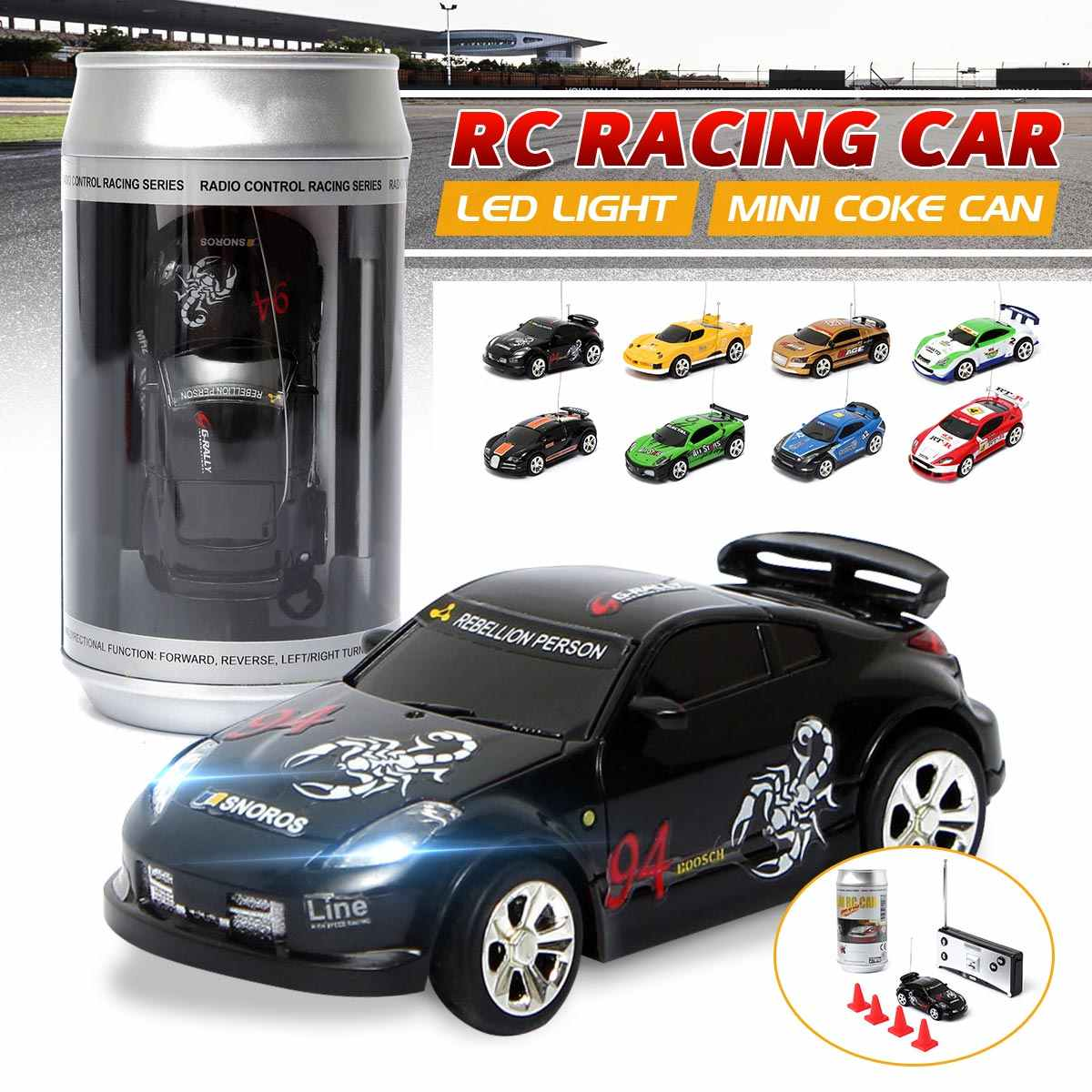 8 kleuren Coke Can Mini RC Car Vehicle Radio Remote Control Micro Racing Car 4 Frequenties Voor Kinderen Presenteert Geschenken