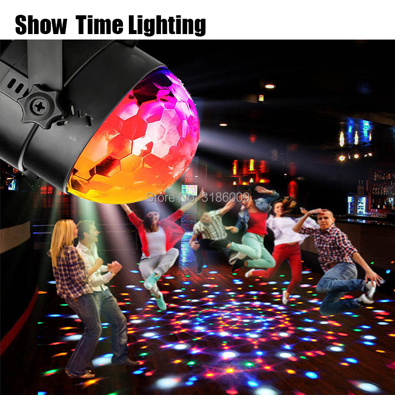 mini dj led disco RGB 3W crystal magic ball power supply by USB use for home party children happy dance dj disco light
