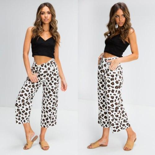 Women Fashion New Brand 2019 Wide Leg Pant Capri Pants Cropped Leggings Fitness Trousers