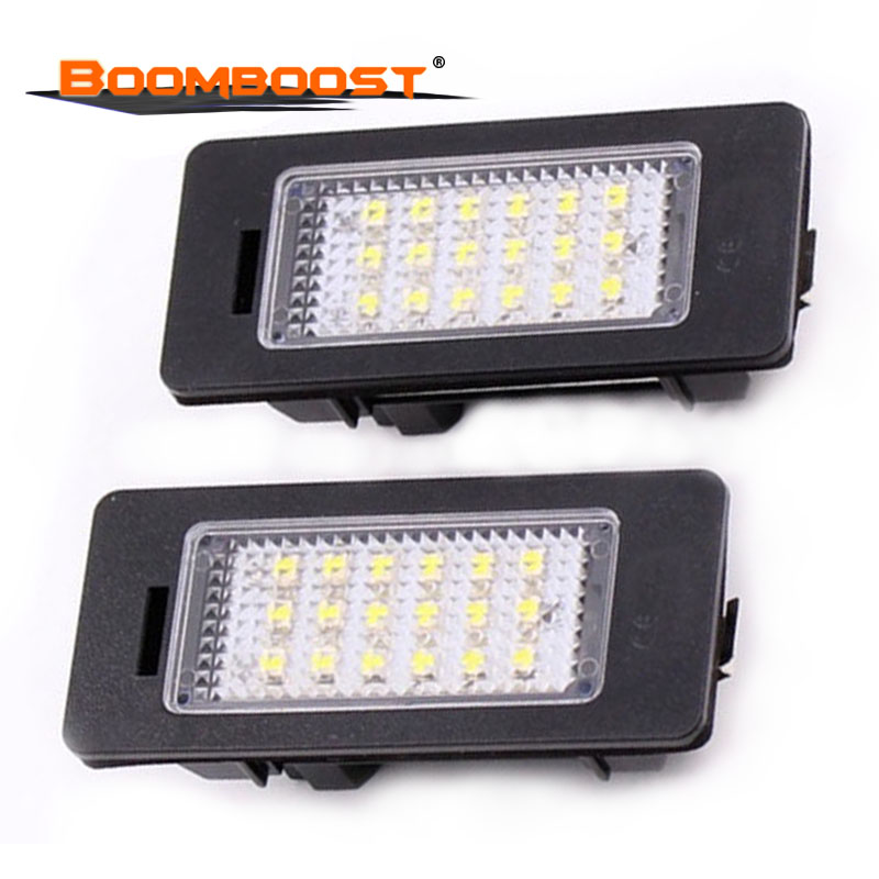 2Pcs Number plate Light LED License plate lamp LED Car Lights For BMW E39 M5 <font><b>E5</b></font> E90 E90 E92 E93 E70 E71 X5 X6 M3 18SMD <font><b>12V</b></font> image