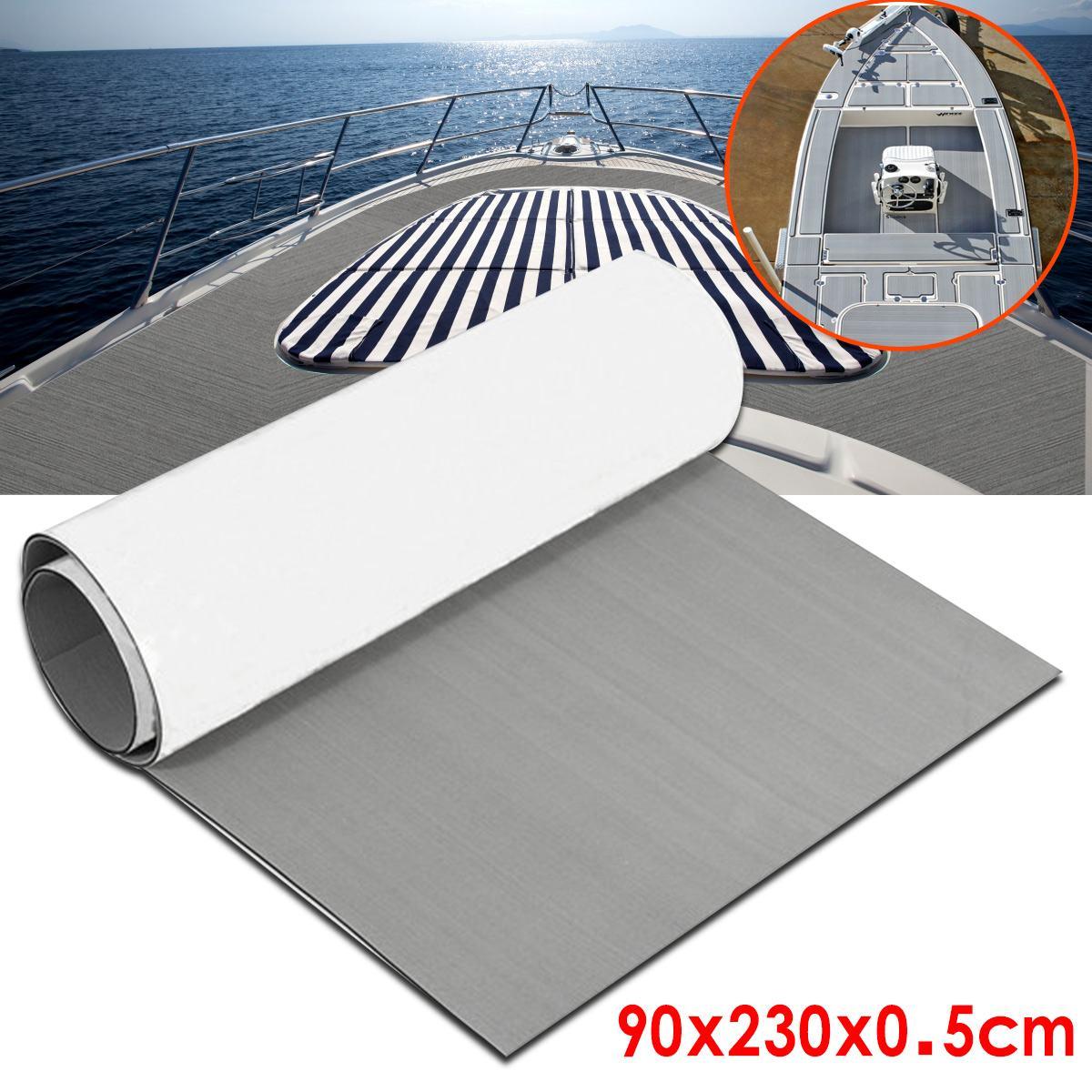 1Roll 2300x900mm 5mm Self-Adhesive EVA Foam Boat Yacht RV Caravan Marine Flooring Faux Teak Boat Decking Sheet Floor Decor Mat