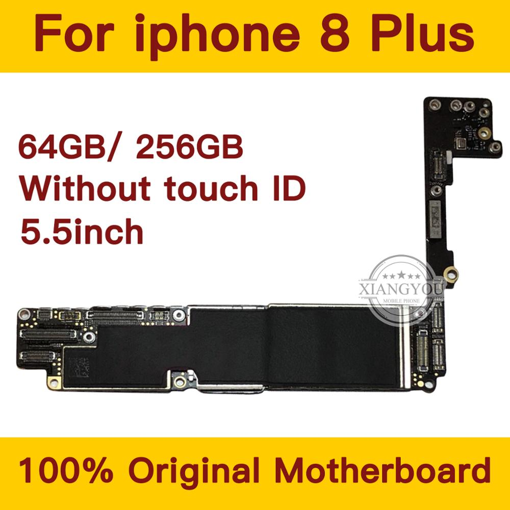 Original Motherboard For IPhone 8 Plus 5.5inch Full Unlock Mainboard Without Touch ID IOS System Whole Logic Board 64GB 256GB