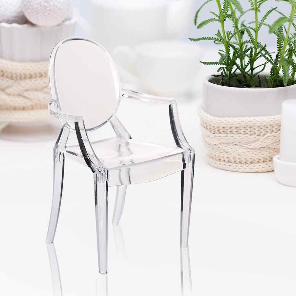 1:6 escala muñeca casa minisilla silla de plástico silla juguetes para niños muñecas muebles Accesorios