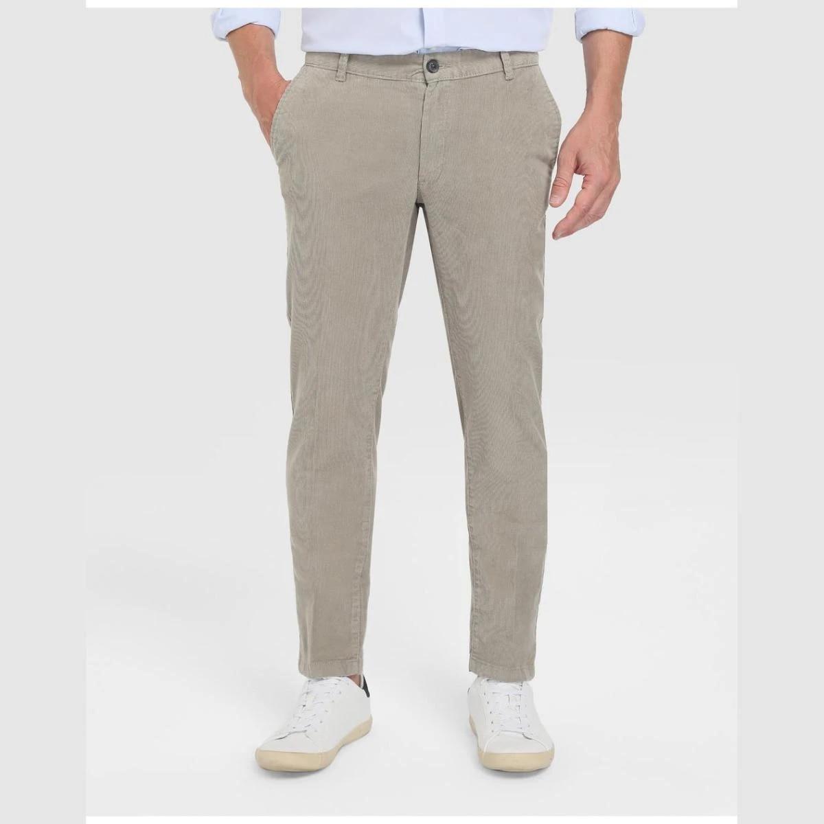 Unit Hombre Sintetico Pantalones Pantalon Chino Basico Unit Hombre De Pana Aliexpress