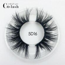 Colash 15 مللي متر 5D رموش بالمنك الرموش الصناعية تقاطعات الطبيعية طويلة جلدة ماكياج ثلاثية الأبعاد المنك جلدة تمديد رمش متعدد الطبقات