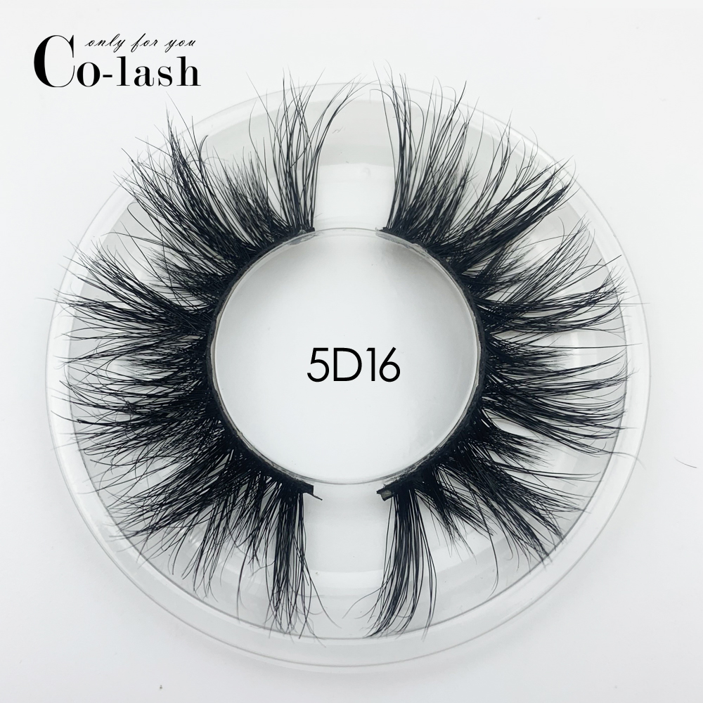 Colash 15mm 5D Mink Eyelashes False Eyelashes Crisscross Natural Long Lashes Makeup 3D Mink Lashes Extension Eyelash Multi-layer