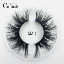 Colash 15mm 5D Mink Eyelashes False Eyelashes Crisscross Natural long lashes Makeup 3D Mink Lashes Extension Eyelash Multi layer