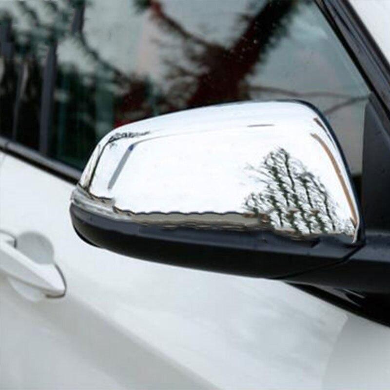 Voiture Chrome Rétroviseur Couverture De Miroir Rétroviseur Garniture Autocollant Pour BMW X1 F48 Pour BMW 2 Série F45 F46 accessoires