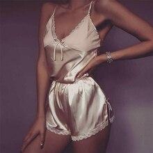 Women Sexy Lingerie set Lace Crop Top shorts pajamas