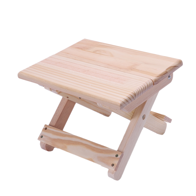 Image 3 - Portable Beach Chair Simple Wooden Folding Stool Outdoor Furniture Fishing Chairs Modern Small Stool Camping ChairStools & Ottomans   - AliExpress