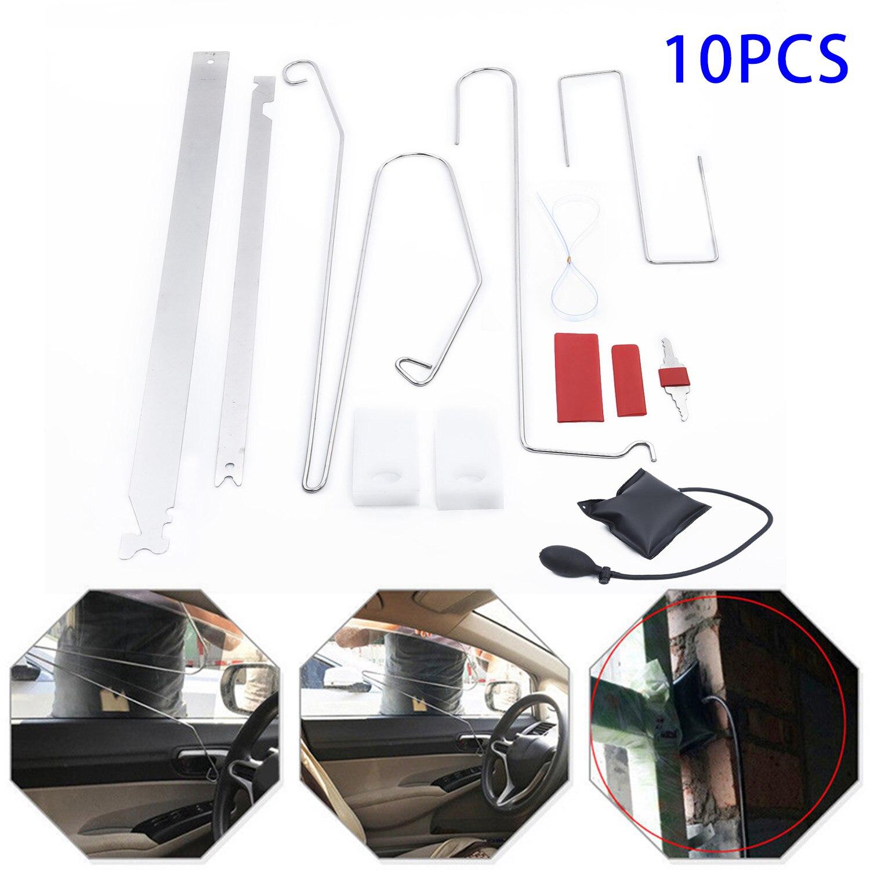 10pcs/set Pro Emergency Open Unlock Tool Kits Car Door Key Lost Locks Air Pump Auto Repair Car Door Key Lost Lock Out Tools