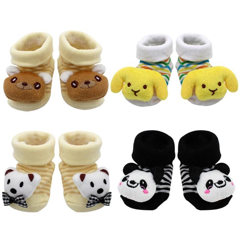 2018 New Clothing Cartoon Newborn Baby Girls Boys Anti-Slip Socks Slipper Shoes Boots Kids Clothes Sports Suit