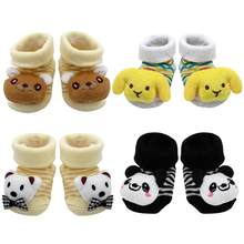 Baby Socks clothing Cartoon Newborn Baby Girls Boys Anti-Slip Socks Slipper Shoes Boots kids clothes sports suit(China)