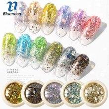 6 коробок Хамелеон дизайн ногтей блестки смешанные Блестки для ногтей шестигранные акриловые блестки смешивает разноцветные Блестки для ногтей блестки украшения для ногтей