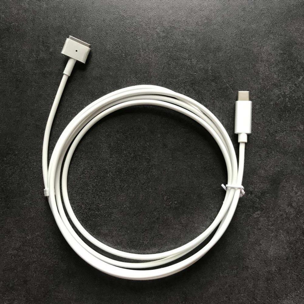 ¡Nuevo! Reemplazo de tipo-C a MacSafe 2 Cable de Cable para Macbook Pro Retina aire 45 W 60 W 85 W cargador de adaptador de corriente