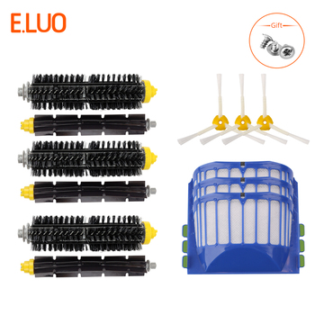 цена на Replacement Accessories Kit for iRobot Roomba 600 Series 675 690 680 660 651 650& 500 Series 595 585 564 552 Filter Brush