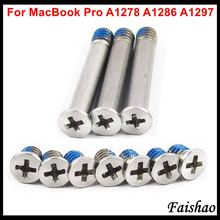 Faishao 50sets New For Apple MacBook Pro 13″ 15″ 17″ A1278 A1286 A1297 Bottom Case Cover Screws Set Replacement
