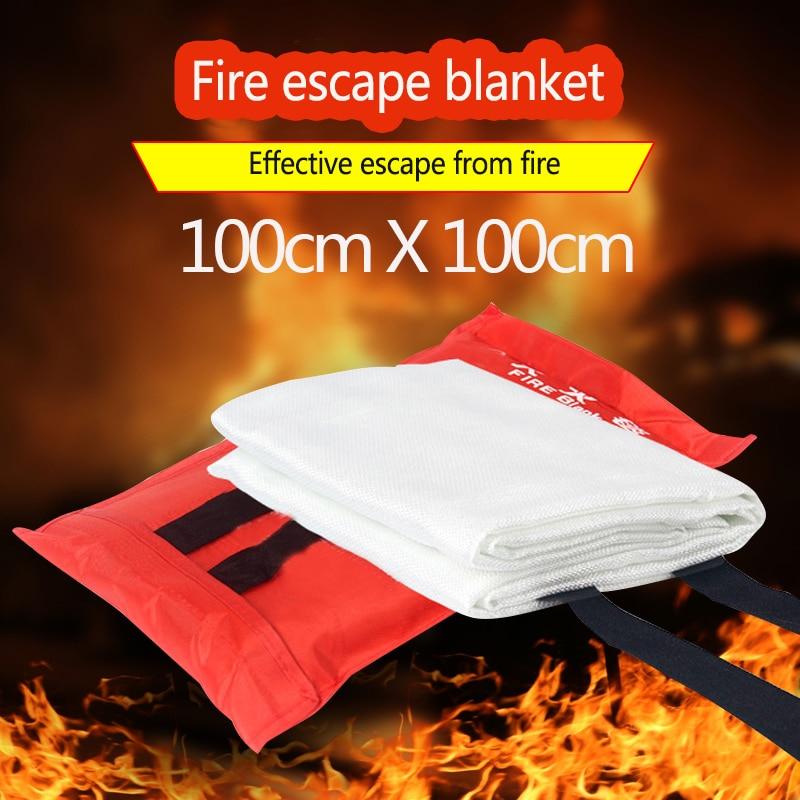 Fire Blanket Fiberglass Fire Flame Retardant Emergency Survival Fire Shelter Safety Cover Fire Emergency Blanket 1M x 1M