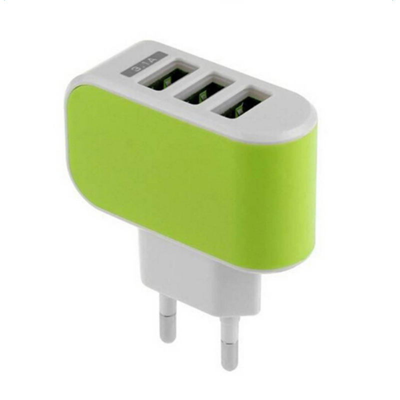Image 4 - 2019 NEW Arrival 3 Ports 3.1A Triple USB Port Wall Home Travel AC Charger Adapter EU Plug Mobile Phone Charger Dropshipping-in Mobile Phone Chargers from Cellphones & Telecommunications