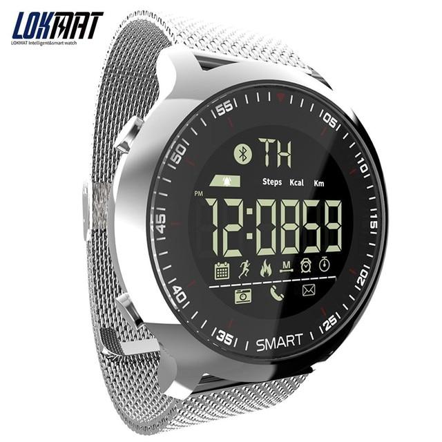 aa57976ba2df LOKMAT deporte reloj de Bluetooth impermeable de los hombres reloj  inteligente Digital Ultra larga espera de