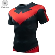 2019 New Compression Nightwing Shirt 3D T Shirt men Fitness Tights Base Layer Shirts hort Short Sleeve Fitness T-shirts цена