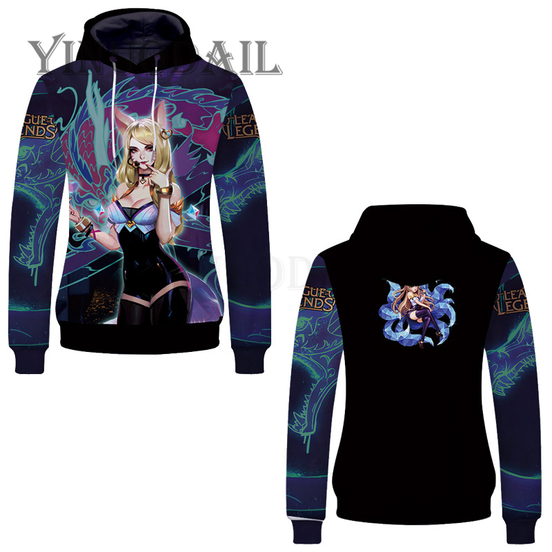 Fans Wear 2019 Unisex Pullover Sweatshirt Hoodies LOL <font><b>Cosplay</b></font> Harajuku Hooded Sweatshirts <font><b>League</b></font> <font><b>of</b></font> <font><b>Legends</b></font> Tracksuits Hoodies image