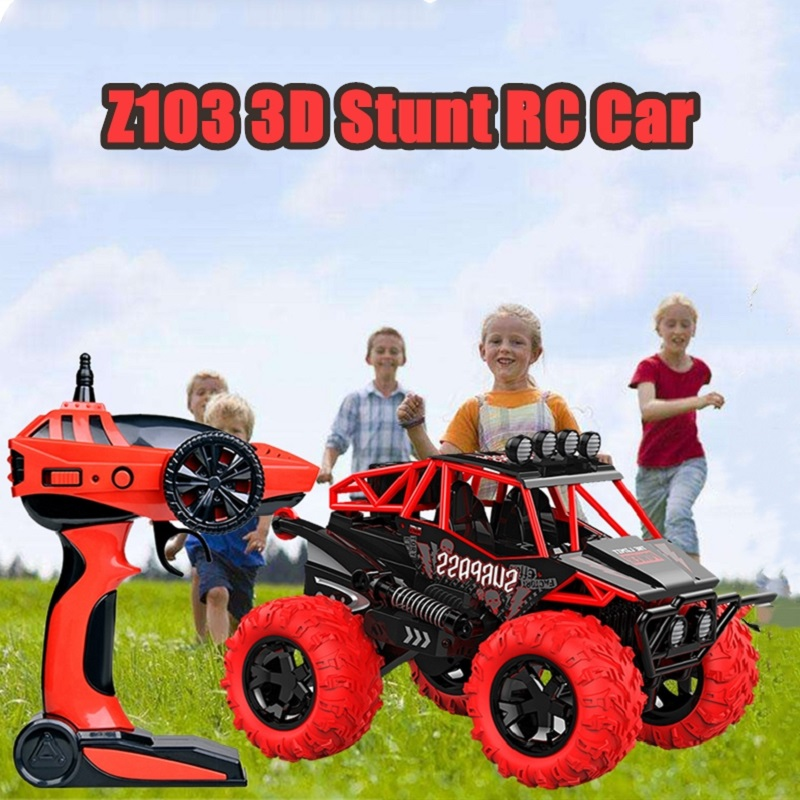 New Cool Stunt RC Car Z103 3D Mini Hi Tech Rechargeable Vehicle 2.4G Wireless High Speed RC Off Road Car Kids Toy Gift