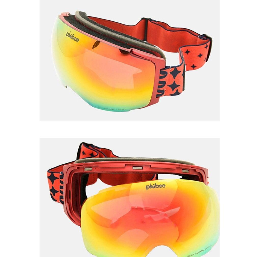 Aimant ski lunettes double couches UV400 anti-brouillard grand masque de ski lunettes de ski hommes femmes neige snowboard lunettes